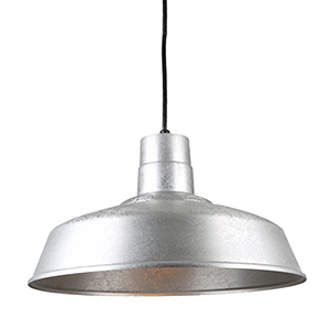 Warehouse Galvanized 18-Inch Steel Pendant