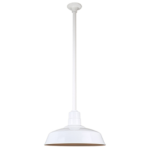 Warehouse White 18-Inch Pendant with 36-Inch Downrod