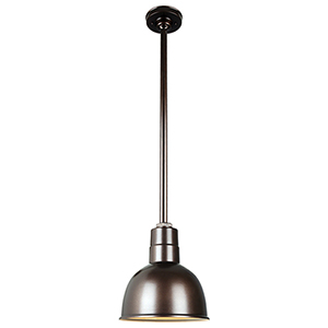 Warehouse Oil Rubbed Bronze 10-Inch Aluminum Pendant with 36-Inch Downrod
