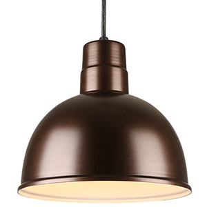Deep Bowl Shade Oil Rubbed Bronze 12-Inch Pendant