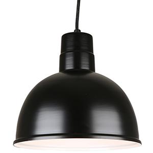Deep Bowl Shade Black 12-Inch Pendant