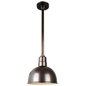 Warehouse Oil Rubbed Bronze 12-Inch Aluminum Pendant with 24-Inch Downrod