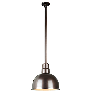 Warehouse Oil Rubbed Bronze 12-Inch Pendant with 36-Inch Downrod