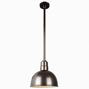 Warehouse Oil Rubbed Bronze 12-Inch Aluminum Pendant with 36-Inch Downrod