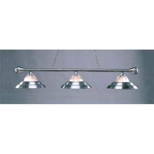 Satin Steel 11-Inch Three-Light Billiard Light