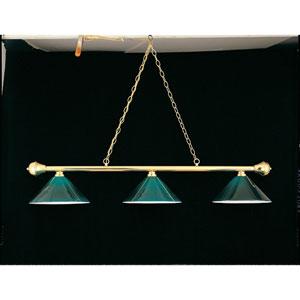 Polished Brass 11-Inch Three-Light Billiard Light