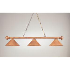 Rosewood and Brown 11-Inch Three-Light Billiard Light