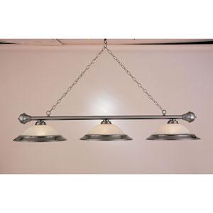 Satin Steel Three-Light Billiard Light