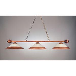 Rosewood 11-Inch Three-Light Billiard Light