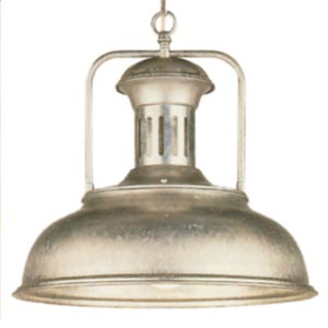 Country Galvanized Dome Pendant