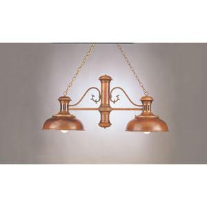Rosewood 24-Inch Two-Light Billiard Light