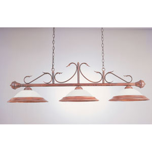 Rosewood 16-Inch Three-Light Billiard Light