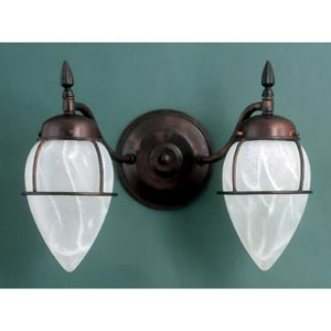 Rosewood Two-Light Wall Sconce