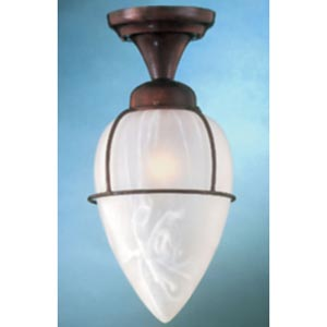 Rosewood Semi-Flush Ceiling Light