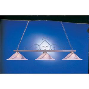 Satin Steel 20-Inch Three-Light Billiard Light