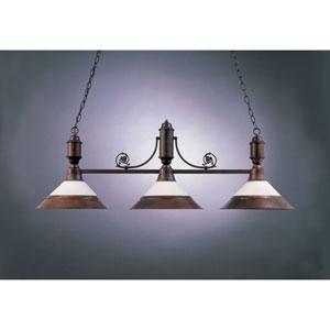 Rosewood 20-Inch Three-Light Billiard Light