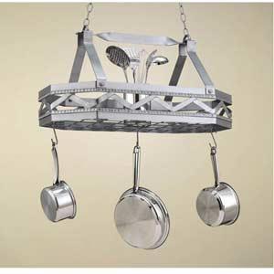 Sonoma Satin Steel Hanging Pot Rack