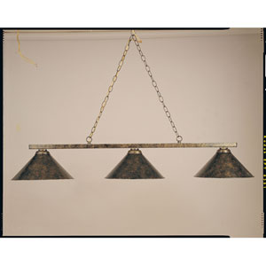 Copper and Black 11-Inch Three-Light Billiard Light