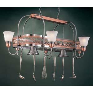 Odyssey Marble Eight-Light Pot Rack