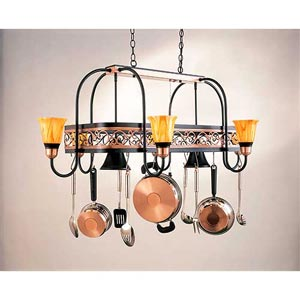 Eight-Light Pot Rack