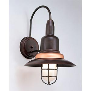 One-Light Outdoor Cast Guard Wall Sconce