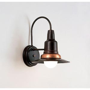 One-Light Outdoor Hooded Wall Sconce