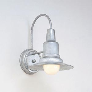 Galvanized One-Light Outdoor Wall Sconce