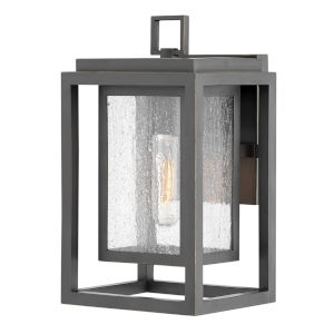 Republic Oil Rubbed Bronze One-Light 12-Inch Outdoor Wall Mount