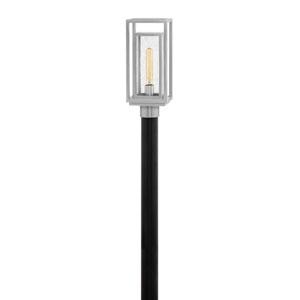 Republic Satin Nickel One-Light Outdoor Post Mount