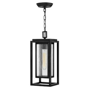 Republic Black One-Light Outdoor Pendant