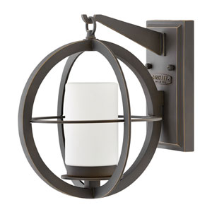 Compass Oil Rubbed Bronze 12-Inch One-Light Outdoor Wall Sconce