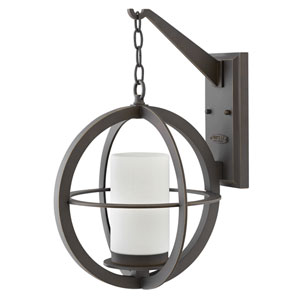 Compass Oil Rubbed Bronze 21-Inch One-Light Outdoor Wall Sconce