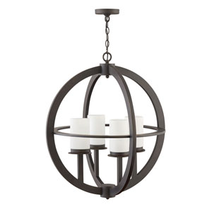 Compass Oil Rubbed Bronze Four-Light Outdoor Semi-Flush Mount