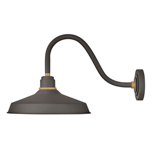 Foundry Museum Bronze 15-Inch One-Light Dark Sky Short Wall Mount