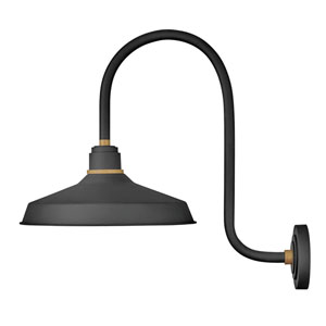 Foundry Textured Black 27-Inch One-Light Dark Sky Curve Wall Mount
