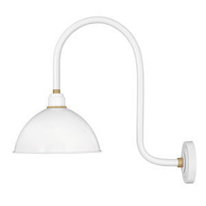Foundry Gloss White 23-Inch One-Light Dark Sky Dome Wall Mount