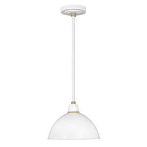 Foundry Gloss White 12-Inch Eight-Light Dark Sky Outdoor Pendant