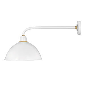 Foundry Gloss White 20-Inch One-Light Dark Sky Large Wall Mount