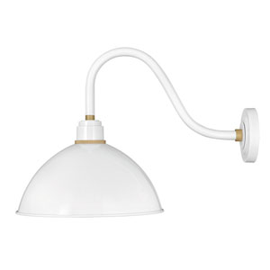 Foundry Gloss White 26 One-Light Dark Sky Wall Mount