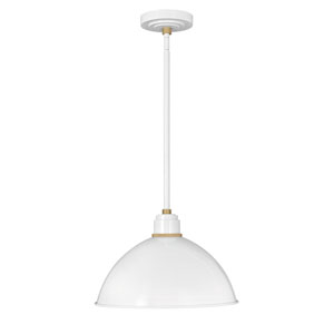 Foundry Gloss White 10.5 One-Light Dark Sky Pendant