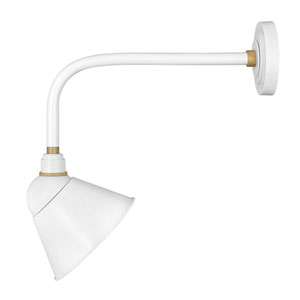 Foundry Gloss White One-Light Wall Mount