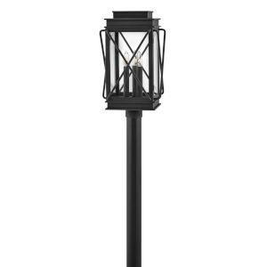 Montecito Museum Black Three-Light Outdoor Post Mount