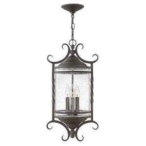 Casa Olde Black Three-Light Outdoor Pendant