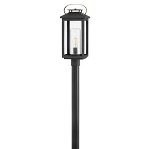 Atwater Black One-Light Outdoor Post Mount
