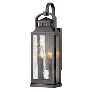 Revere Blackened Brass Two-Light Wall Mount