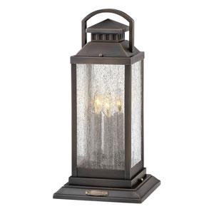 Revere Blackened Brass Three-Light LED Outdoor Pier Mount