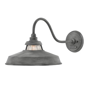 Troyer Aged Zinc One-Light Wall Mount