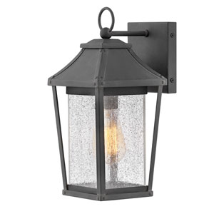 Palmer Museum Black 13-Inch One-Light Outdoor Wall Sconce