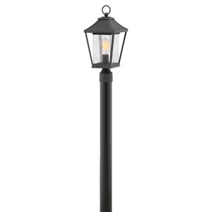 Palmer Museum Black One-Light Outdoor Post Mount