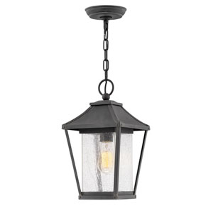 Palmer Museum Black One-Light Outdoor Pendant
